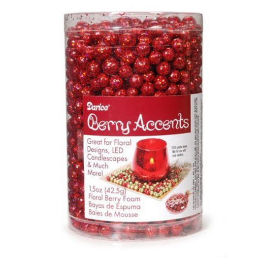 Foam Red Berries for Fireplace Decorations