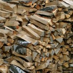 Loosely stack firewood while it seasons