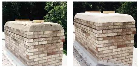 Chimney Crown Crack Repair CrownSeal Waterproof Coating, FREE Shipping