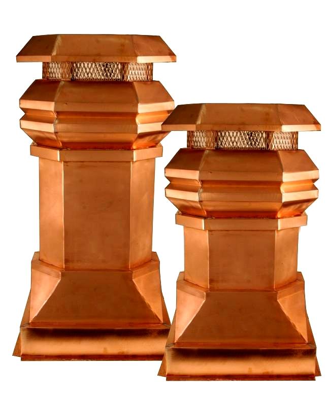 Natural Copper Tudor Chimney Pots