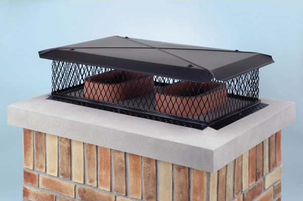 Top Mount Chimney Cap with Black Powder Coat Finish