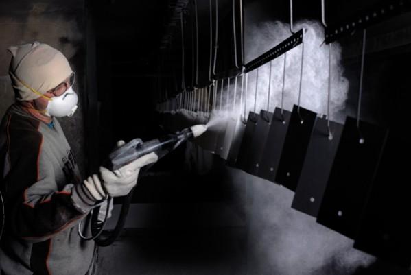 spraying powder coating