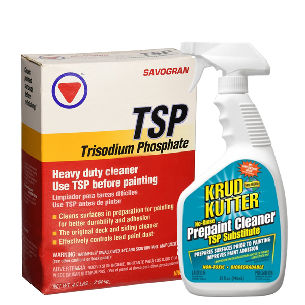 Before you paint a brick fireplace, clean it with TSP or Krud Kutter.