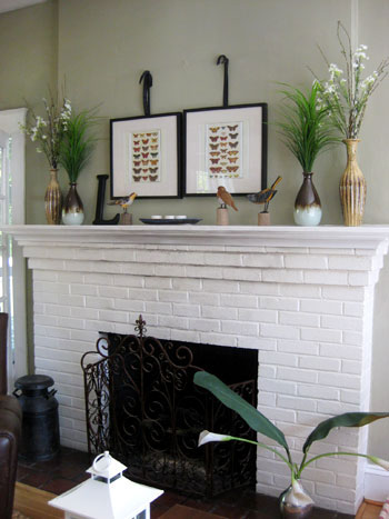 How to paint a brick fireplace: Step by step