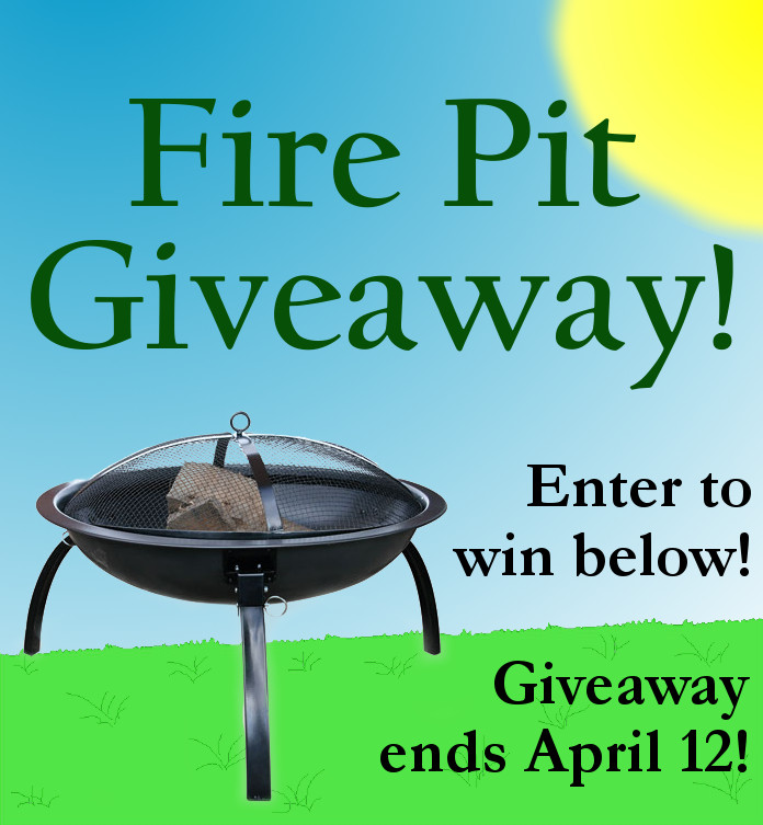 Outdoor Fire Pit Giveaway!