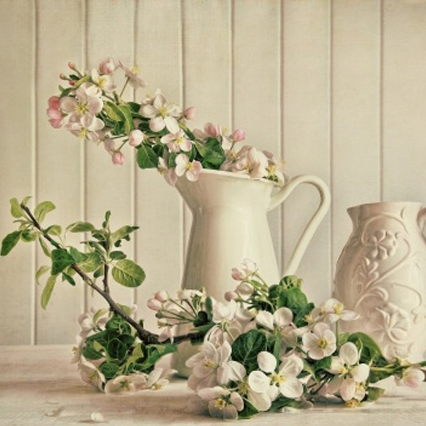 Decorate fireplace for spring