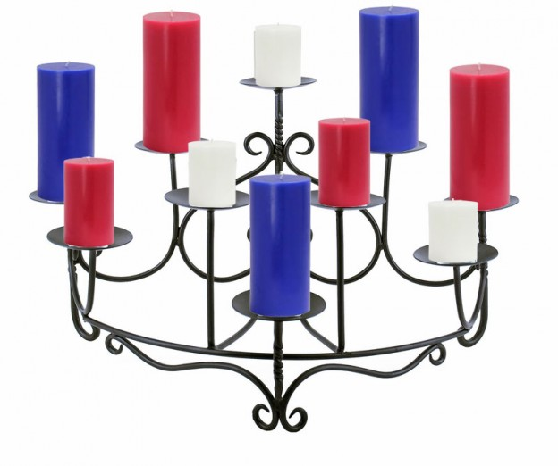 July 4 Candelabra and Candles