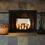 Fireplace Candles Glowing Stainless Steel Fireback