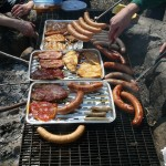 Barbecue over a Fire Pit
