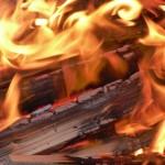 wood burning outdoor fireplace