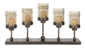 Lamya Fireplace Candelabra with glass candle cups