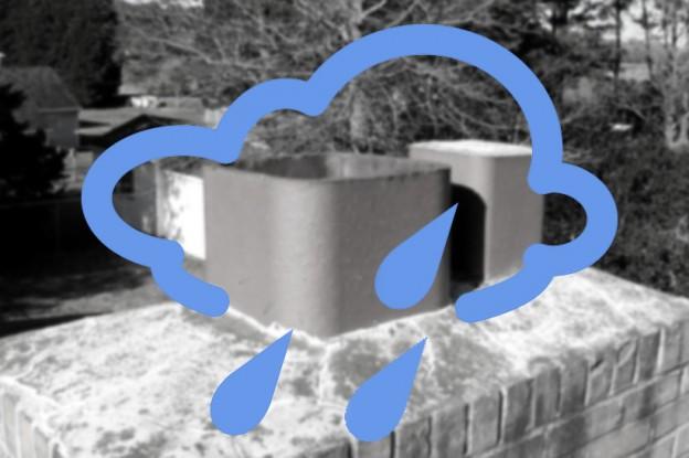 chimney leak in rain