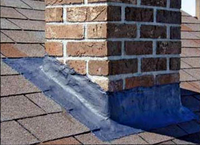 use flash seal to fix chimney flashing