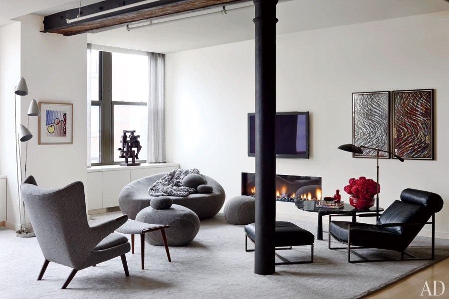 Will Ferrell's Modern Fireplace