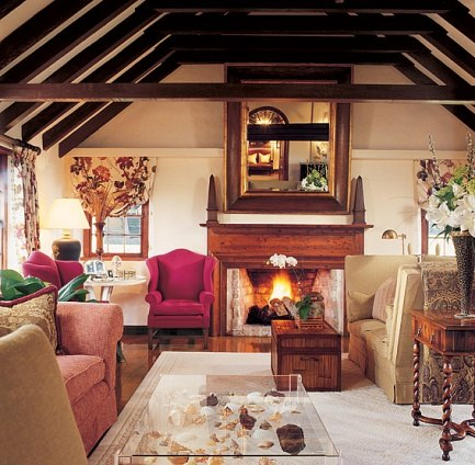 Catherine Zeta-Jones and Michael Douglas Bermuda Fireplace