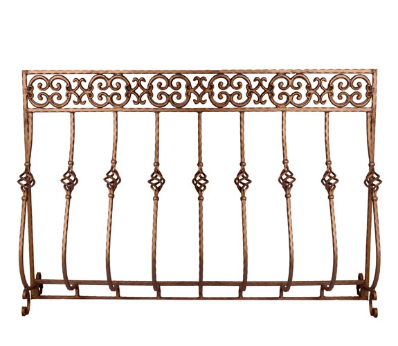 Antique Copper Tuscany Summer Fireplace Screen