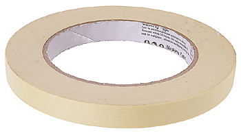 Masking Tape to prevent shell from cracking when drilled