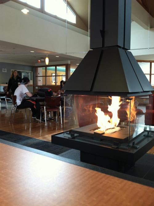 Moravian College HUB fireplace