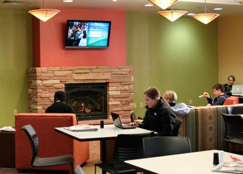 University Memorial Center fireplace at the University of Colorado Bolder