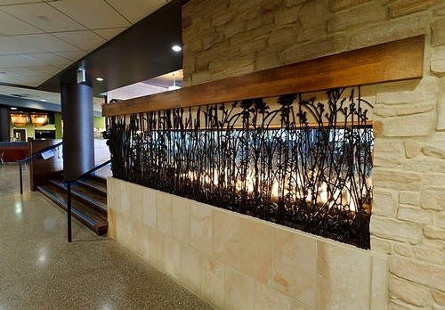 Union South Prairie Fire coffee shop fireplace at the University Of Wisconsin-Madison