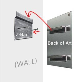 Universal Z-Bar Heavy Duty Hanging Hardware
