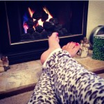 Warm toes by the First Fire of the Season