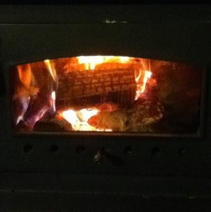 First Wood Stove Fire of the Season