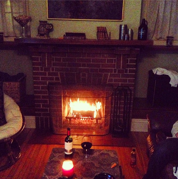 Monday Night Football, Malbec wine, and the First Fire of the Season.