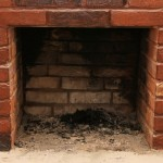 Cleaning a dirty fireplace