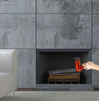 Preheat a fireplace using a hair dryer.