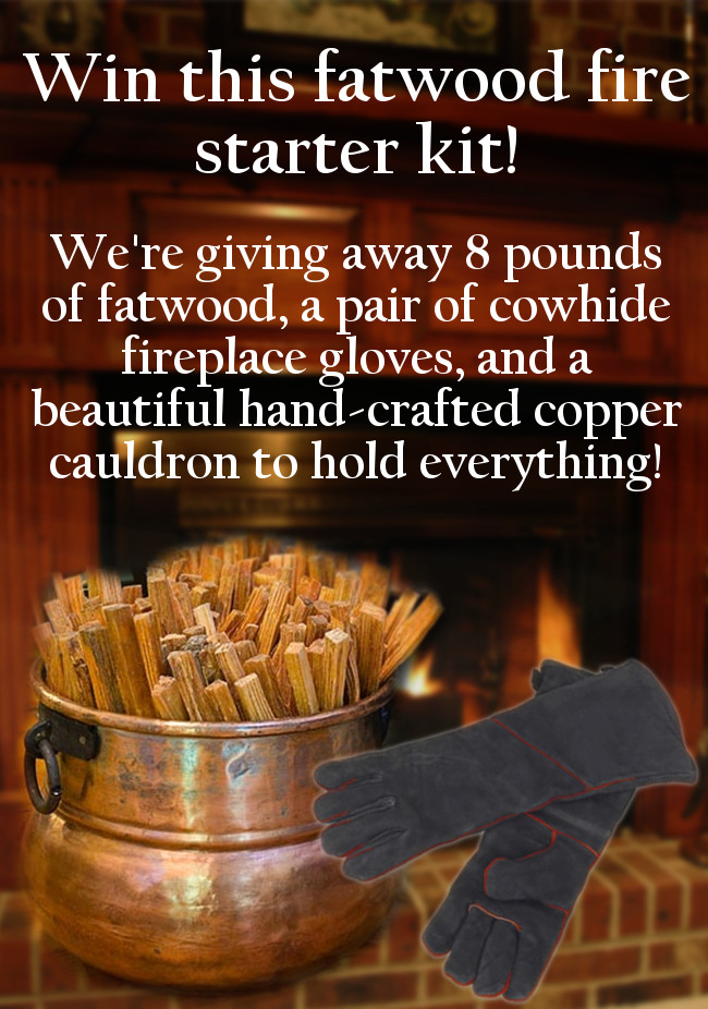 Fatwood Fire Starter Kit Giveaway!