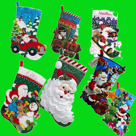 Use a Christmas Stocking Kit to create a handmade stocking.