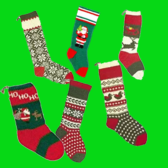 Knitting Patterns for Christmas Stockings