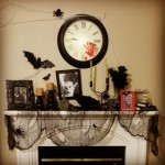 Halloween fireplace decorating