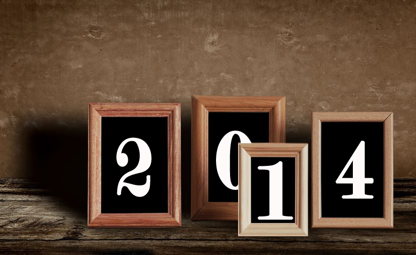 Separately frame each number of the New Year.