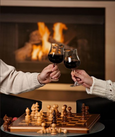 Fireplace-Chess