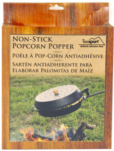 non-stick fireplace popcorn popper