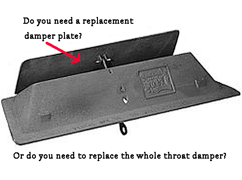 Replacement damper plate or replacement throat damper?