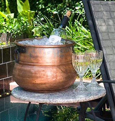 Repurpose the cauldron from a leprechaun pot of gold to a drink cooler