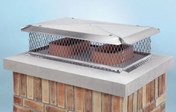 A chimney cap will keep birds out of a chimney and fireplace.