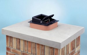 top-mount fireplace damper