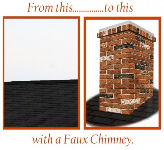 Solve the No Chimney for Santa problem with a chimney surround.