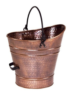 copper ash bucket for Santa friendly fireplace