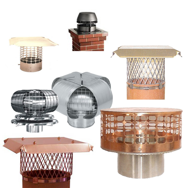 Chimney Caps for Round Flues