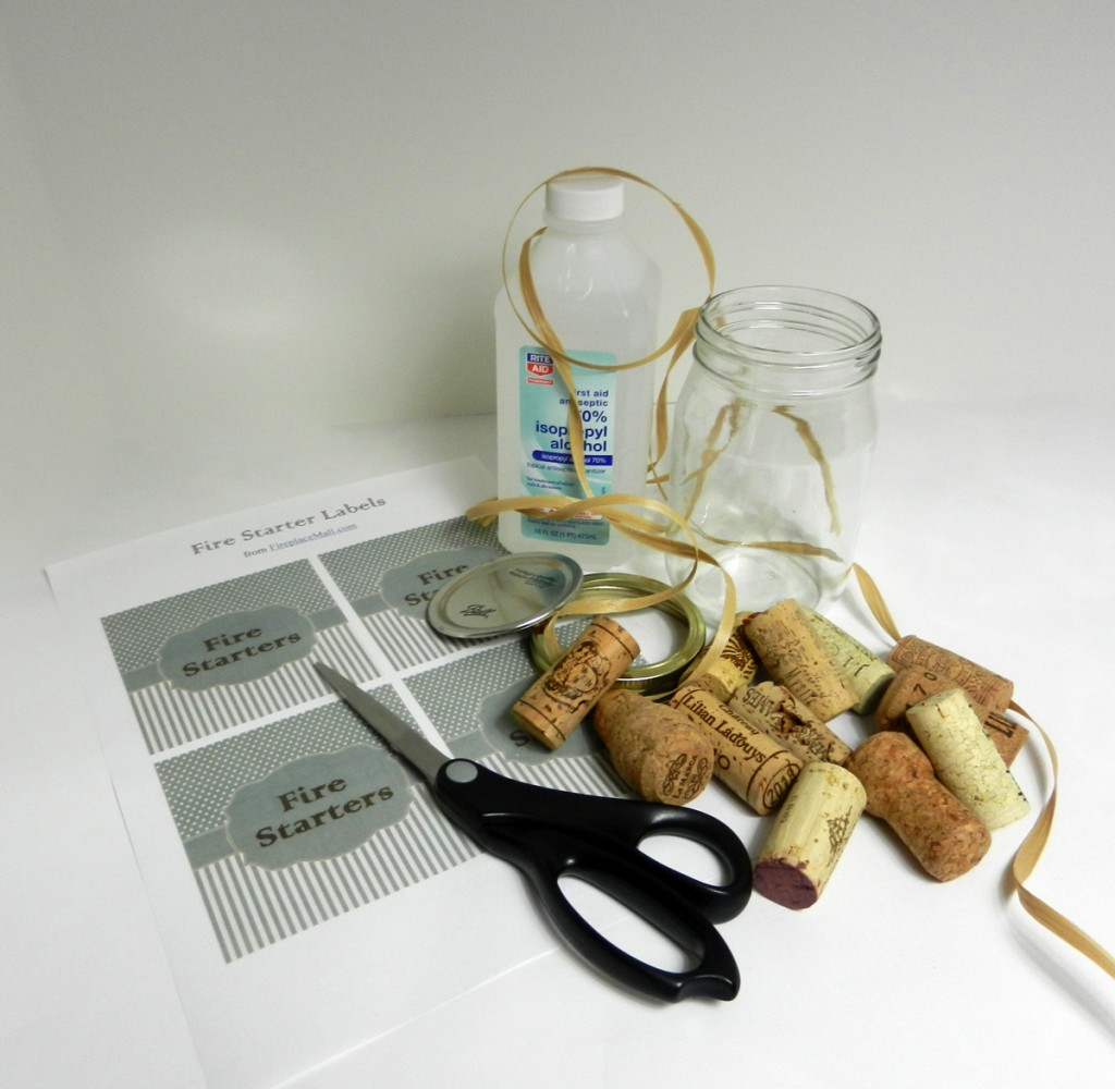 Materials for Home Made Wine Cork Fire Starters