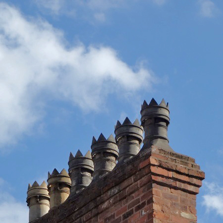 Victorian clay chimney pots