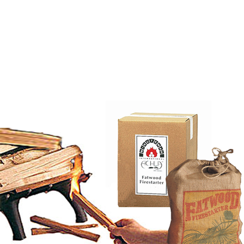 fatwood fire starters for fireplaces, grills, and fire pits