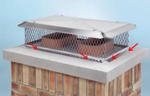 Install multi flue chimney cap through flanges