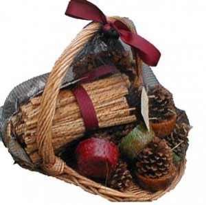 fireplace gift basket