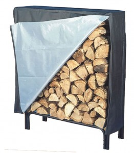 log rack with cover